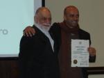 Prof. Flávio Moreira recebendo seu Leão de ouro